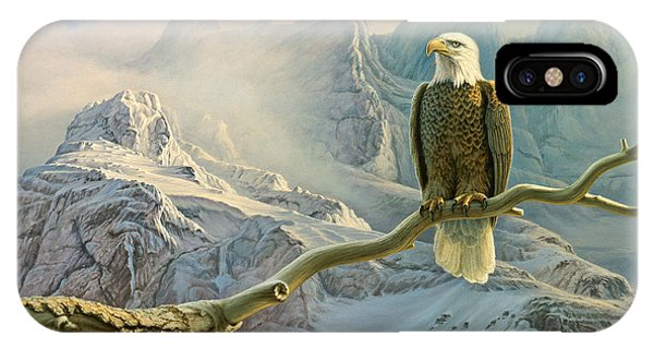 Yellowstone iPhone Case - In The High Country-eagle by Paul Krapf