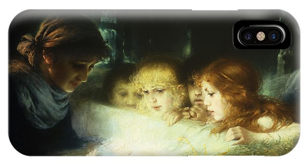 Life Of Christ iPhone Case - In The Manger by Hugo Havenith
