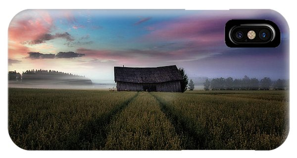 Old Barn iPhone Case - In The Middle Of The Day. by Mika Suutari