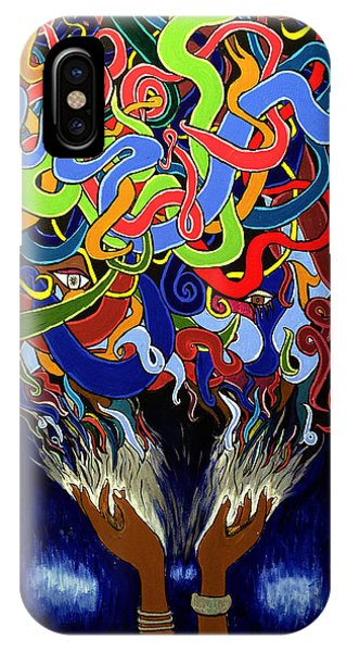 In The Midst - Abstract Art Painting  - Ai P. Nilson IPhone Case