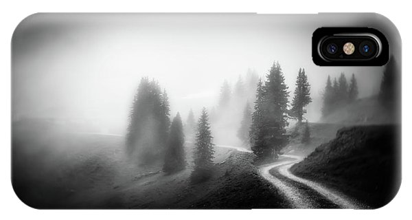 Fir Trees iPhone Case - In The Mountains by Nic Keller