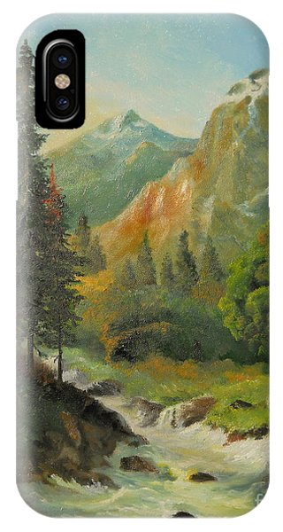 In The Mountains  IPhone Case