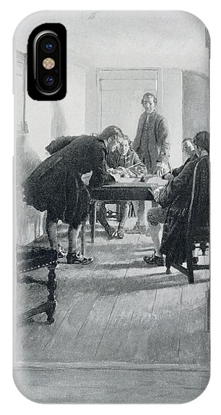 Revolutionary iPhone Case - In The Old Raleigh Tavern, Illustration From At Home In Virginia By Woodrow Wilson, Pub. In Harpers by Howard Pyle