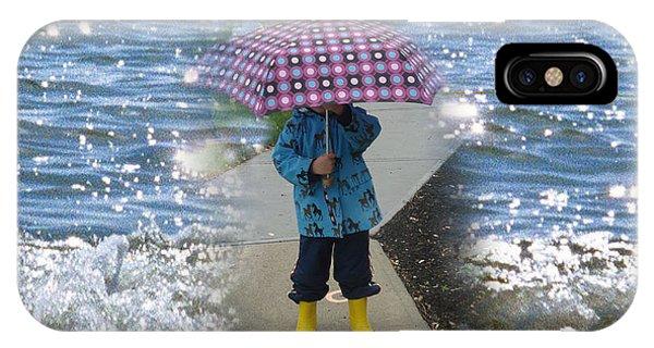 In The Rain I Love You IPhone Case