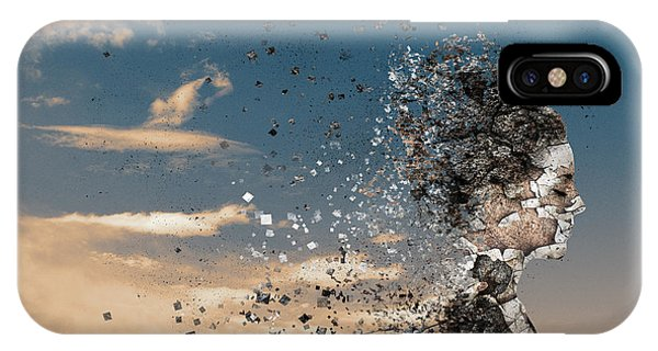 Explosion iPhone X Case - In The Wind by Silvia Guillet