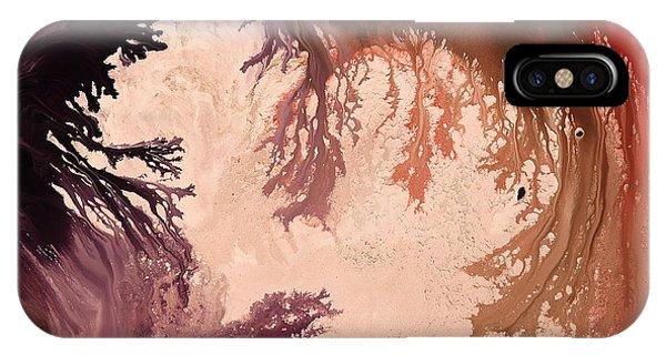 In The World Of Reverie Dark Abstract Art By Kredart IPhone Case