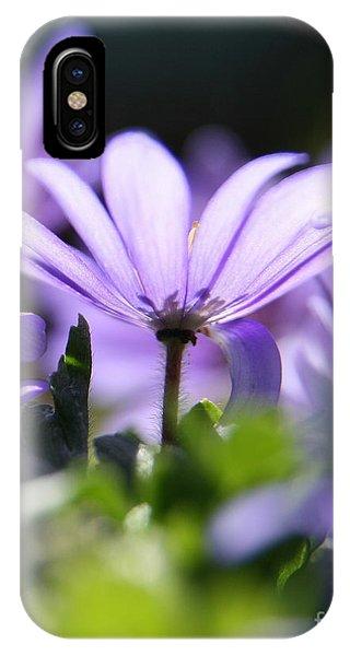 Floral Purple Light  IPhone Case