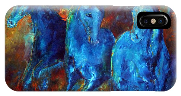 Abstract Horse Painting Blue Equine IPhone Case