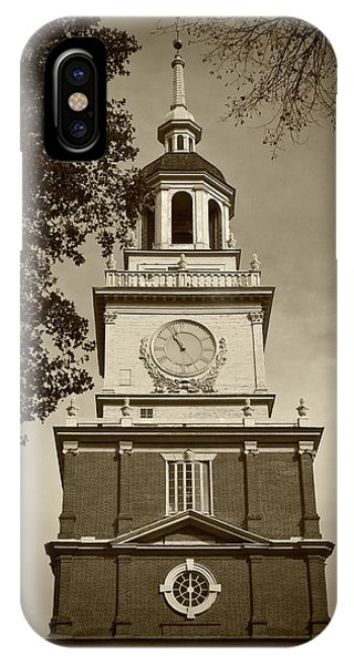 Independence Hall - Bw IPhone Case