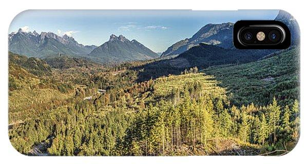 Index Mountains Panorama IPhone Case