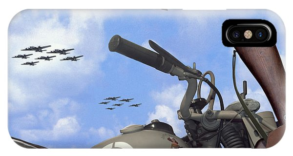 Indian 841 And The B-17 Bomber Sq IPhone Case