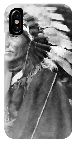 American Indian iPhone Case - Indian Chief - 1902 by Daniel Hagerman