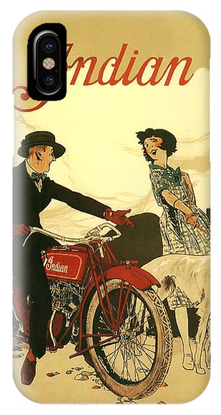Bike iPhone Case - Indian Motorcycle Poster by Bill Cannon
