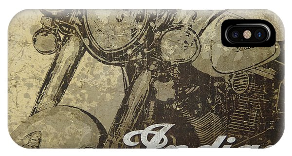Indian Motorcycle Poster IPhone Case
