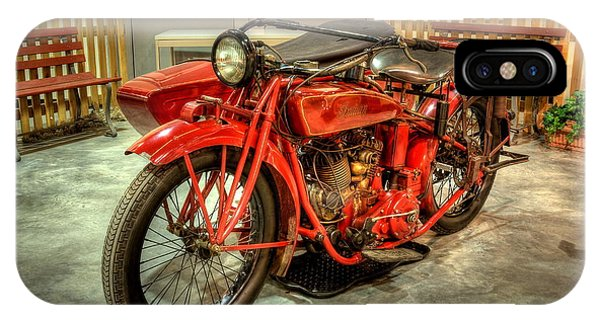 Indian Motorcycle With Sidecar IPhone Case