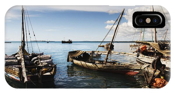 Indian Ocean Dhow At Stone Town Port IPhone Case