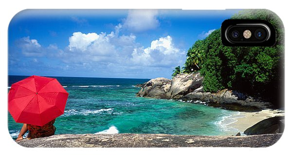 Sunbather iPhone Case - Indian Ocean Moyenne Island Seychelles by Panoramic Images