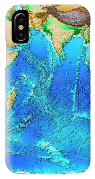 Sea Floor iPhone Case - Indian Ocean Topography by Noaa/science Photo Library