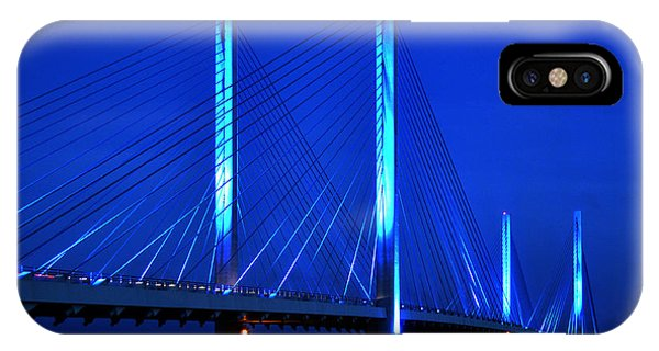 Indian River Bridge At Night IPhone Case