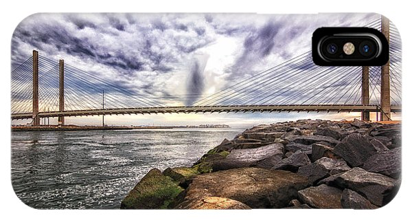 Indian River Bridge Clouds IPhone Case