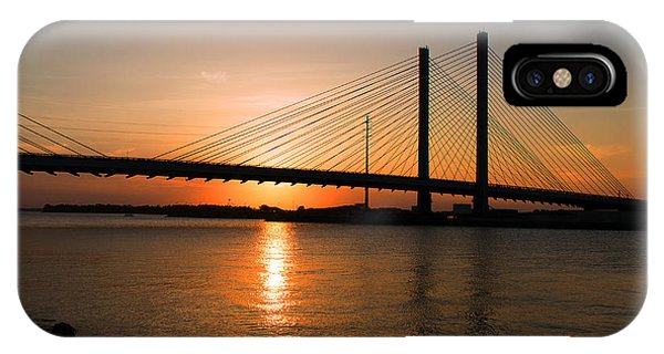 Indian River Bridge Sunset Reflections IPhone Case