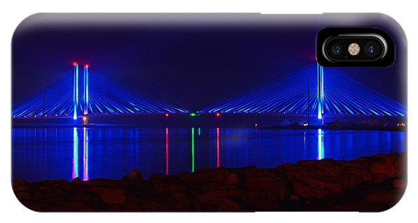 Indian River Inlet Bridge After Dark IPhone Case