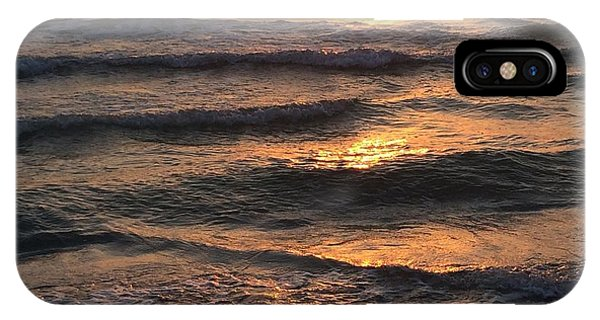 Indian Rocks Beach Waves At Sunset IPhone Case