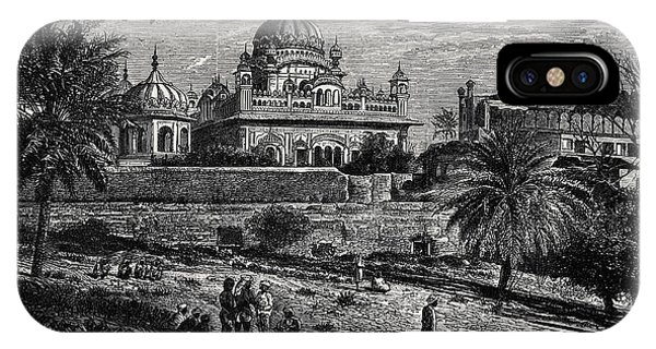 Indian Sketches The Tomb Of Runjeet Singh IPhone Case