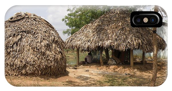 Indian Village Huts Phone Case By Ted Denyer