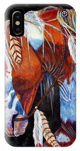 White Horse iPhone Case - Indian War Pony by Amanda Hukill