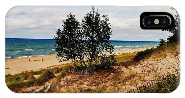 Indiana Dunes Two Tree Beachscape IPhone Case
