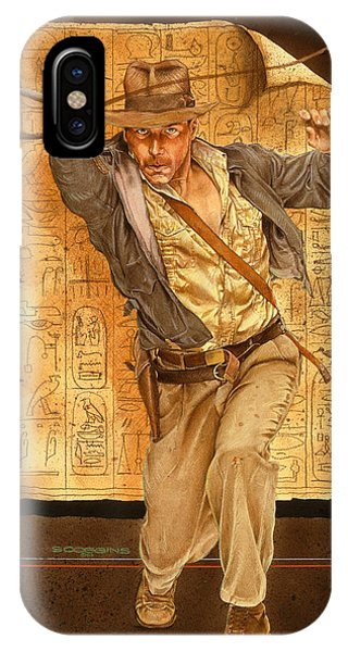 Harrison iPhone Case - Indiana Jones by Timothy Scoggins
