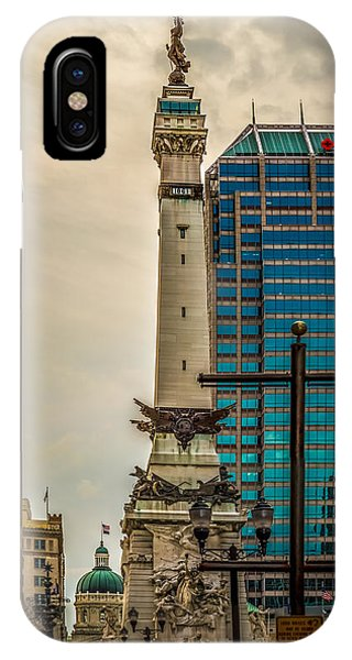 Indiana - Monument Circle With State Capital Building IPhone Case