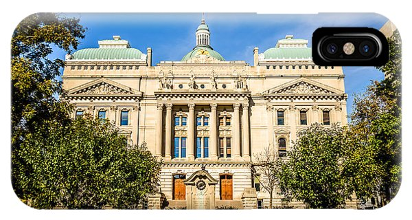 Indiana Statehouse State Capital Building Picture IPhone Case