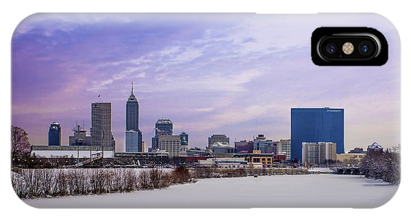Purdue Boilermakers iPhone Case - Indianapolis A Midwinters Afternoon Dream by David Haskett II