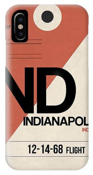 Travel iPhone Case - Indianapolis Airport Poster 1 by Naxart Studio