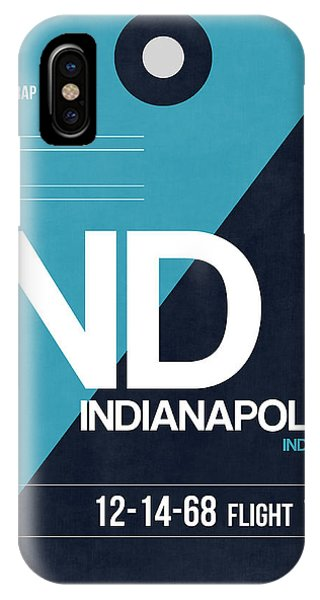 Travel iPhone Case - Indianapolis Airport Poster 2 by Naxart Studio