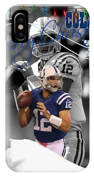 Andrew iPhone Case - Indianapolis Colts Christmas Card by Joe Hamilton