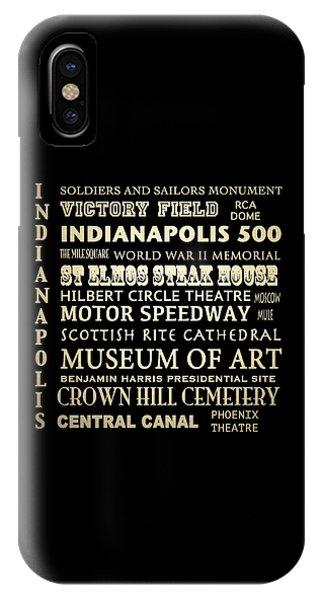 Indianapolis Famous Landmarks IPhone Case