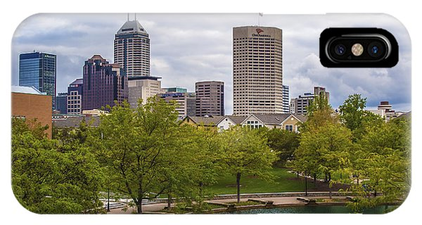 Indianapolis Indiana Skyline 1000 IPhone Case