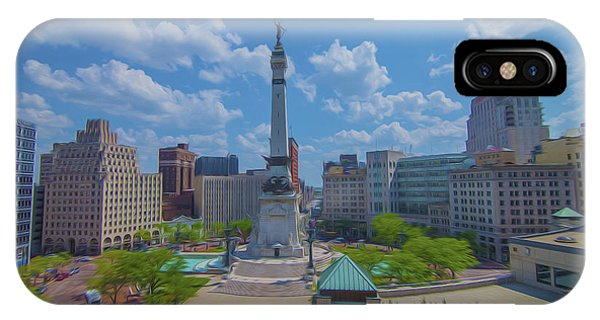 Indianapolis Monument Circle Oil IPhone Case