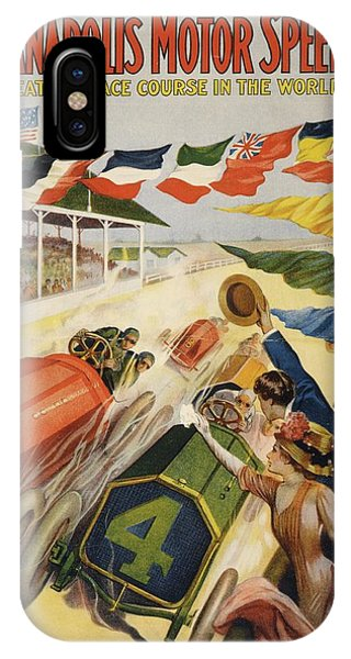 Allison iPhone Case - Indianapolis Motor Speedway Poster by Library Of Congress/science Photo Library