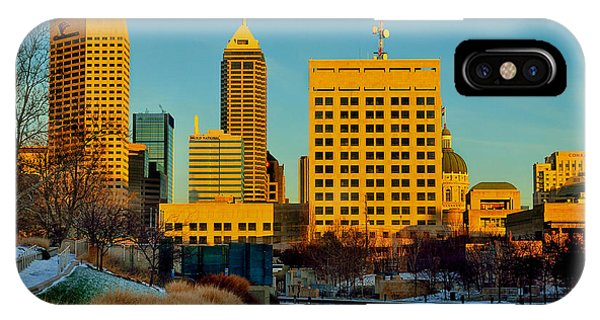 Indianapolis Skyline Dynamic IPhone Case
