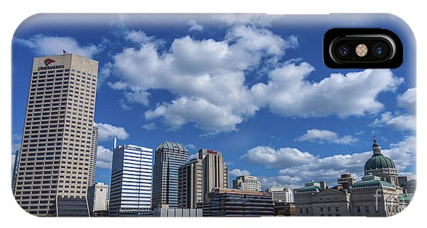 Indianapolis Skyline Low IPhone Case
