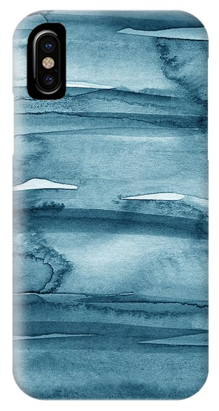 Indigo Water- Abstract Painting IPhone Case