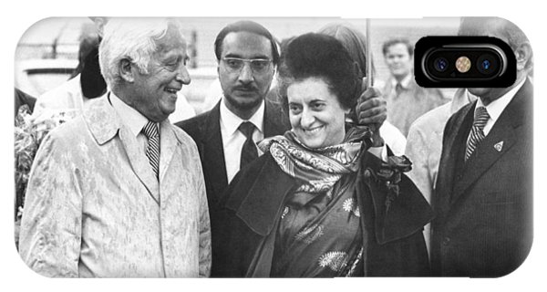 Prime Minister iPhone Case - Indira Gandhi At Jfk Airport by Underwood Archives