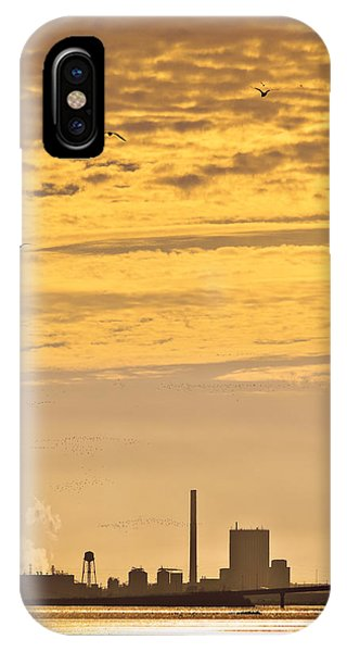 IPhone Case featuring the photograph Industrial Flight by Jon Exley