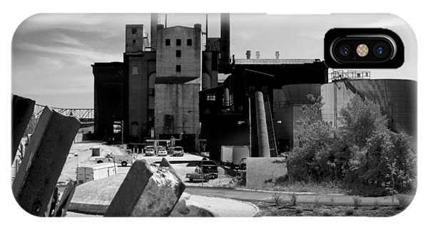 Industrial Power Plant Landscape Smokestacks IPhone Case