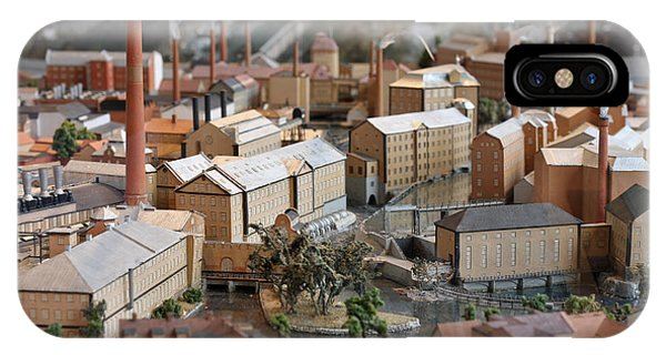 Industrial Town Miniature Model IPhone Case