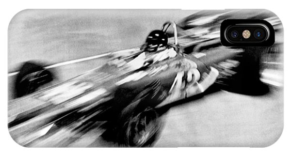 1972 iPhone Case - Indy 500 Race Car Blur by Underwood Archives